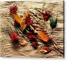 Fall Foliage Still Life Acrylic Print