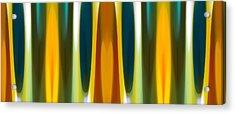 Fall Forest Modern Art  Pattern  Acrylic Print by Amy Vangsgard
