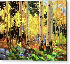Fall Forest Symphony I Acrylic Print