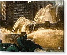 Fall Fountain Acrylic Print