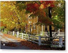 Fall, Hancock Nh Acrylic Print