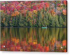 Fall In A Canoe Acrylic Print