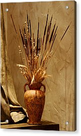Fall In A Vase Still-life Acrylic Print by Christine Till