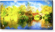 Acrylic Print featuring the photograph Fall In Central Park by Jim  Hatch