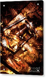 Fall In Fire Acrylic Print by Jorgo Photography - Wall Art Gallery