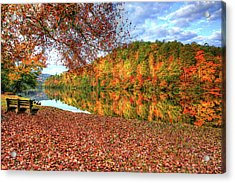 Fall In Murphy, North Carolina Acrylic Print by Sharon Batdorf