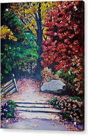Fall In Quebec Canada Acrylic Print by Karin  Dawn Kelshall- Best