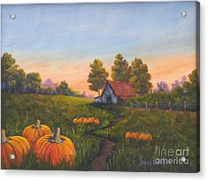 Fall In The Air Acrylic Print by Jerry Walker