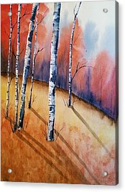 Fall In The Birches Acrylic Print