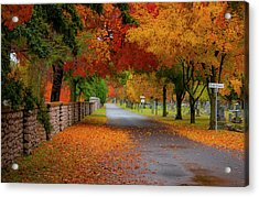 Fall In The Cemetery Acrylic Print