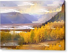Fall In The Rockies Acrylic Print by Marty Koch