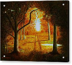Fall In The Woods Acrylic Print by Gene Gregory