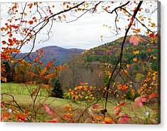 Fall In Vermont Acrylic Print