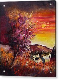 Fall In Villers Acrylic Print by Pol Ledent