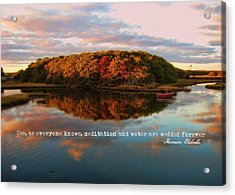 Fall In Wellfleet Quote Acrylic Print by JAMART Photography