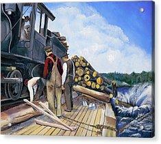 Fall Lake Train Acrylic Print