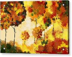 Fall Landscape Acrylic Print by Art Spectrum