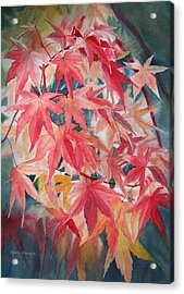 Fall Maple Leaves Acrylic Print by Sharon Freeman