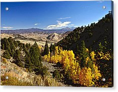 Fall Monitor Pass Acrylic Print by Larry Darnell
