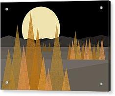 Fall Moon  Acrylic Print