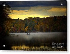 Fall Morn On The Chippiwa Acrylic Print by The Stone Age