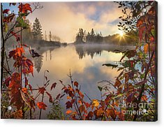 Fall Morning On The Pond Acrylic Print