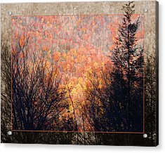 Fall Mountain Acrylic Print by Robert Clayton