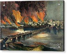 Fall Of Richmond Acrylic Print by American School