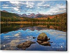 Fall On Sprague Lake In Rocky Mountain National Park Acrylic Print