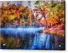 Acrylic Print featuring the photograph Fall On The Lake by Debra and Dave Vanderlaan