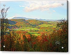 Fall Porch View Acrylic Print