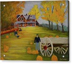 Fall Pumpkin Harvest Acrylic Print