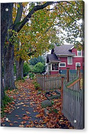 Fall Red House Acrylic Print by Matthew Adair