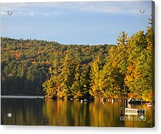 Fall Reflection Acrylic Print by Michael Mooney