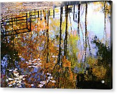 Fall Reflections Acrylic Print by Corinne Rhode
