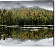 Fall Reflections In The Adirondack Mountains Acrylic Print by Brendan Reals