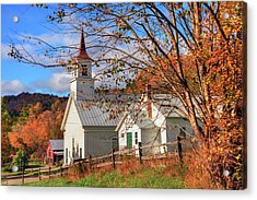 Fall Scene - North Tunbridge Vermont Acrylic Print by Joann Vitali