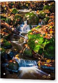 Fall Seasonal Water Cascade Acrylic Print
