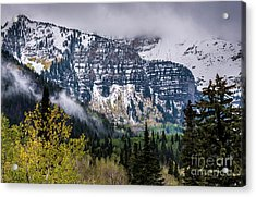 Acrylic Print featuring the photograph Fall Storm In Wasatch Mountains - Utah by Gary Whitton