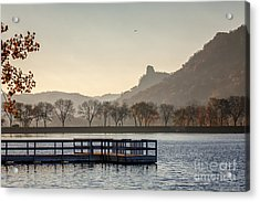 Acrylic Print featuring the photograph Fall Sugarloaf With Huff And Pier by Kari Yearous