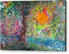 Acrylic Print featuring the painting Fall Sun by Jacqueline Athmann