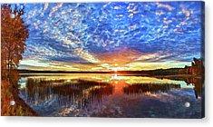 Fall Sunset At Round Lake Acrylic Print