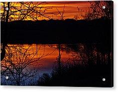 Fall Sunset Acrylic Print by Edward Peterson