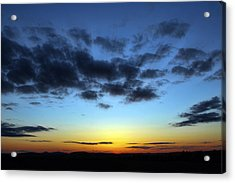 Acrylic Print featuring the photograph Fall Sunset by Gary Smith
