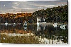 Fall Sunset In Centerport  Acrylic Print