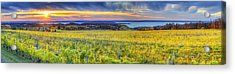 Fall Sunset On Old Mission Acrylic Print