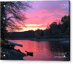 Fall Sunset On The Lake Acrylic Print