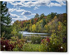 Fall Time On The Lake Acrylic Print