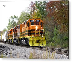 Fall Train In Color Acrylic Print