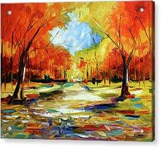 Fall Walk In The Trees Acrylic Print